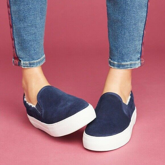 J/Slides Arpel Shearling-Lined Sneakers Size 6
