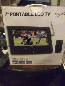 "SUPERSONIC 7"" PORTABLE LCD TV MODEL : SC- 195D"