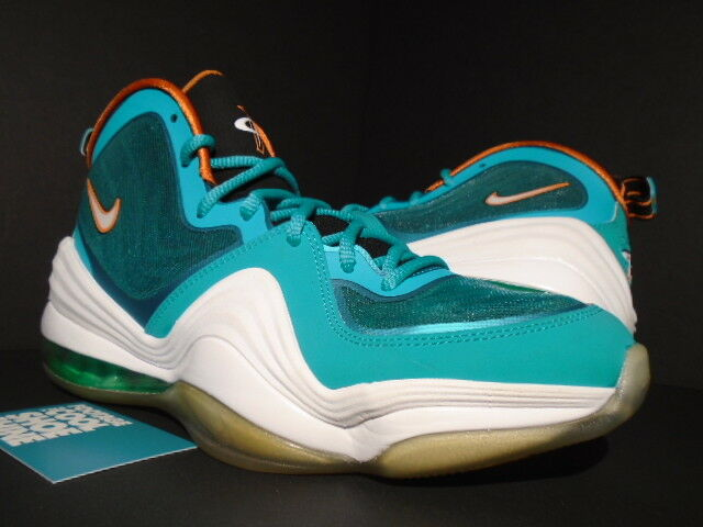 2012 NIKE AIR MAX PENNY V 5 MIAMI DOLPHINS TEAL GREEN WHITE orange 537331-300 9