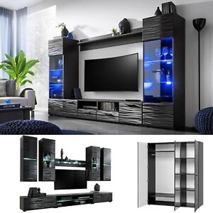 Furniture Living Room TV Unit Cabinet Wall Shelf Coffee Table ...