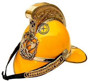 Bombero-Britanico-Amarillo-Firefighter-Casco-Fire-Fighter-de-Oficiales-Jefe