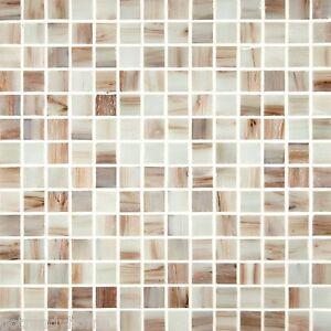 Sample Natural White Iridescent Mosaic Tile Kitchen