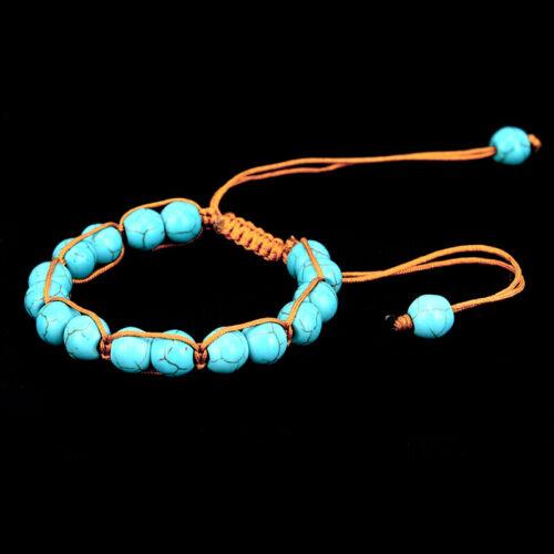 Boho Natural Stone Turquoise Elastic Beads Bracelet Bangle Beach Jewelry Gift WH