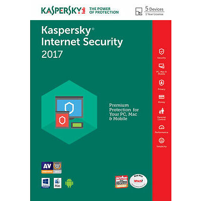 Kaspersky Internet Security 2017 5PC / Users / Devices / 1 Year / Download