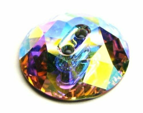 1xSwarovski ® 30mm AB Round Button 3014