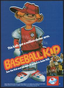 BASEBALL-KID-Original-1980-Trade-Print-AD-toy-advert-ADVERTISEMENT-Ohio-Art