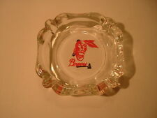 1950's Milwaukee Braves Logo Glass Ash Tray / Ashtray