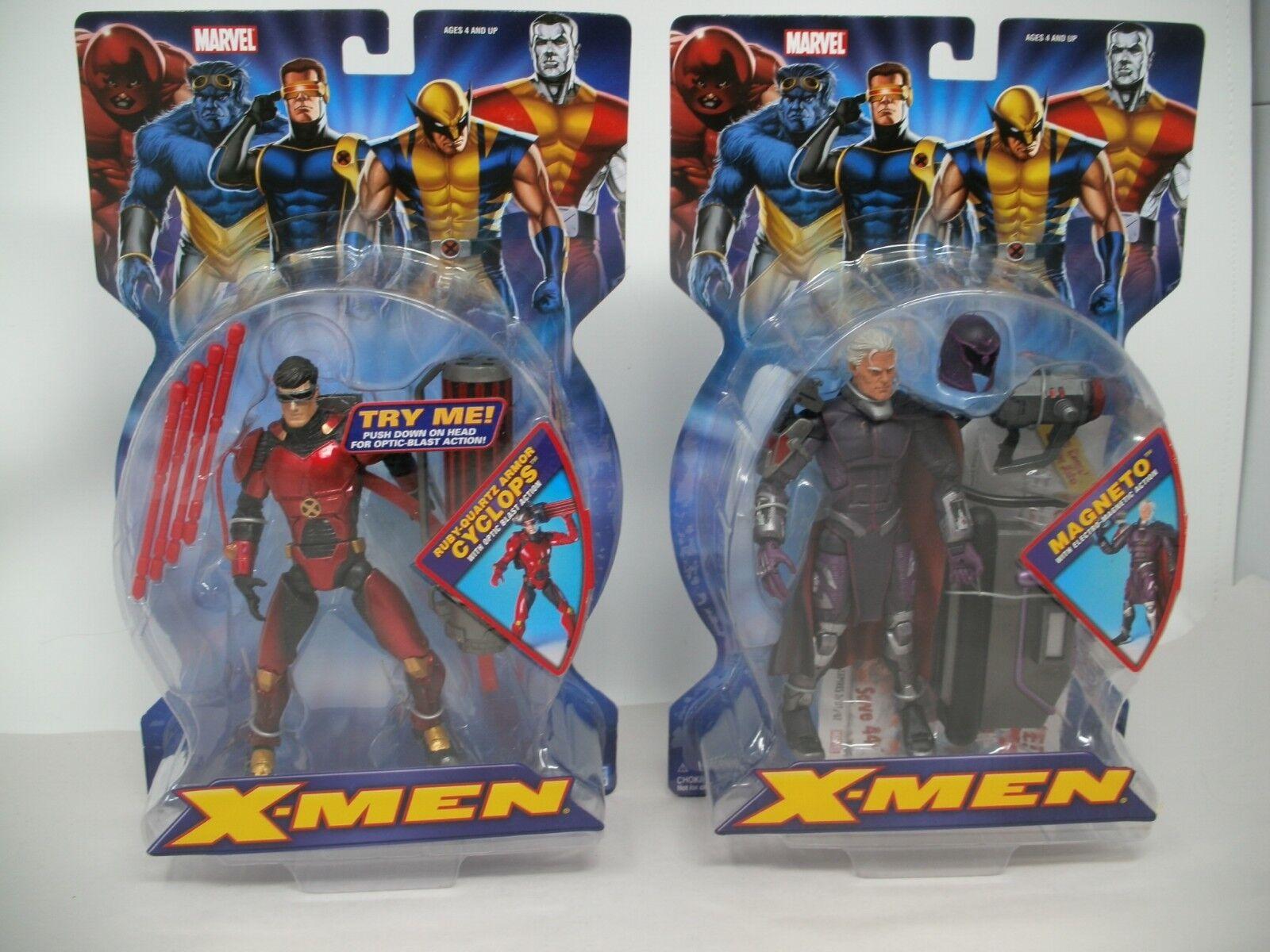 2005 Toy Toy Toy Biz Marvel Legends X-Men Lot - Magneto and Cyclops Ruby Quartz  MOC 849b6b