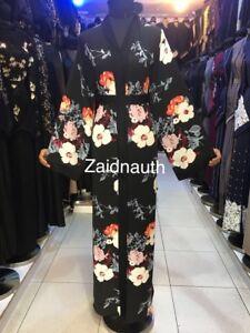 saudi size 58 robe devant Wear 2018 Abayas islamic 54 Women ouvert Nouveau Dress 56 HRY6wq1Y