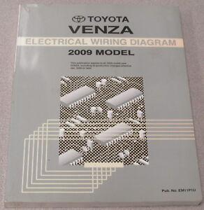 2009 Toyota Venza Electrical Wiring Diagram Service Manual ...