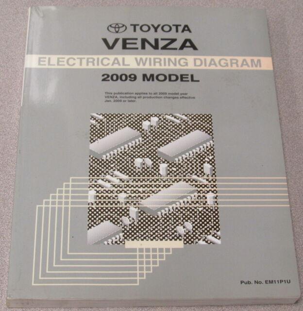 2009 Toyota Venza Electrical Wiring Diagram Service Manual