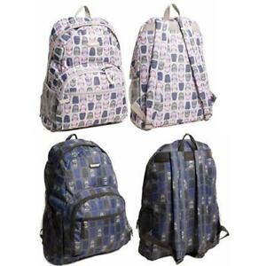 Hi-Tec-Mens-Ladies-Printed-Backpack-Rucksack-School-College-Gym-Hand-Travel-Bag
