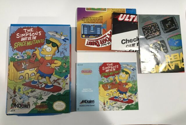 Nintendo NES - Simpsons Bart vs. the Space Mutants - Box & Manual Only - No Game