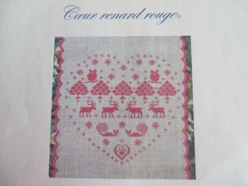 10/% Off blu cobalto Counted X-stitch Chart Ceur renard rouge