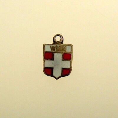 Anhänger Schmuck & Accessoires FäHig Silber Wien Bettelarmband Anhänger Wappen Silver Shield Pendant Fob Charm Mangelware