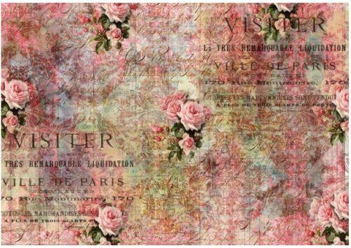 Decoupage-Bastelpapier-Softpapier-Vintage-Shabby-Rose-12655