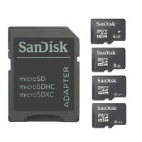 SanDisk 4GB/8GB/16GB/32GB Micro SD SDHC Flash Memory TF card with Adapter  N01