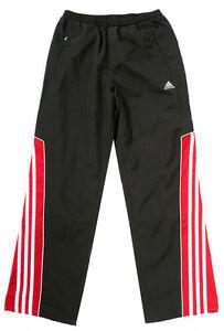 ff3daaf2cbe6c0 Das Bild wird geladen NEU-ADIDAS-lange-Sporthose-Trainingshose -Jogginghose-Netzfutter-schwarz-