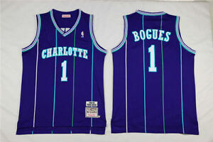 033398019 ... Teal Hardwood Classics Swingman Jersey 2 Image is loading Muggsy-Bogues- Charlotte-Hornets-Hardwood-Classics-Throwback ...