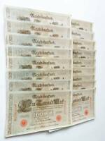 Reichsbanknote Eintausend Mark 1000  Ein Tausend 1910 17 Geldscheine  #1