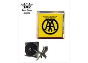 ROYALE STAINLESS CAR GRILL BADGE - AA THE AUTOMOBILE ASSOCIATION - B3.0076