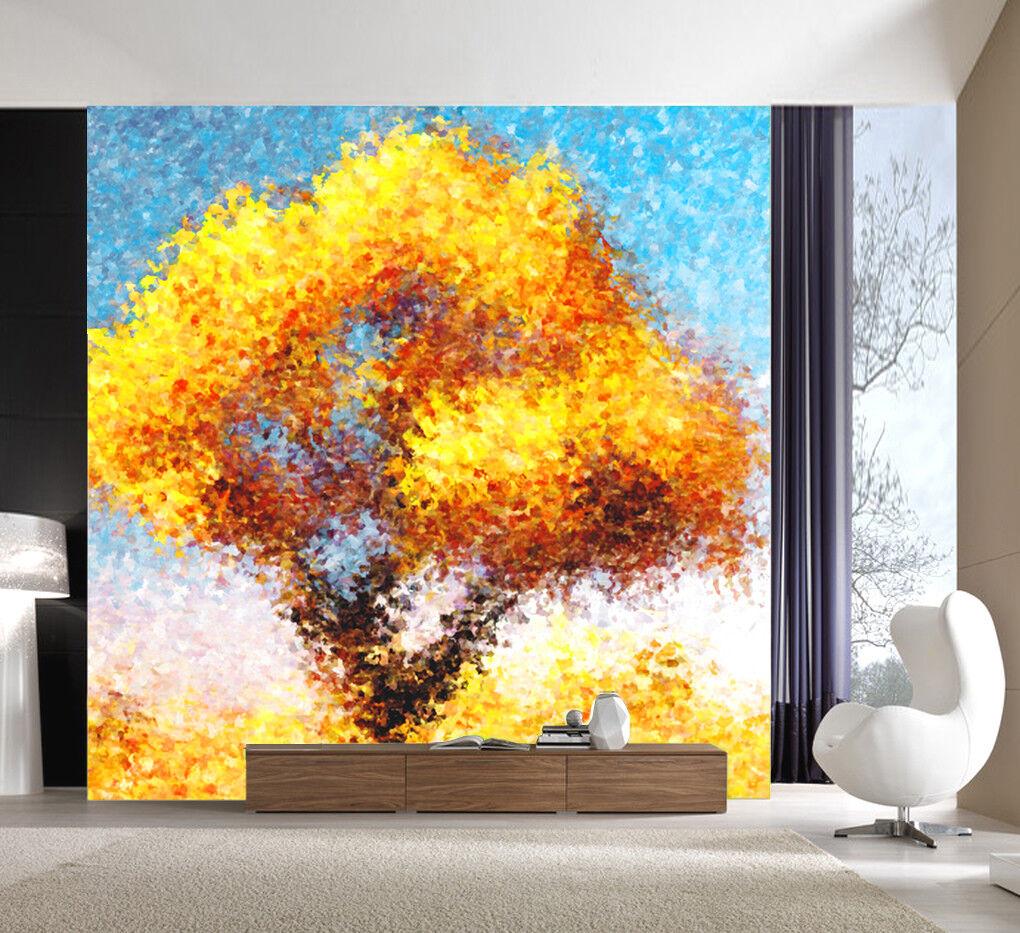3D Tree Painted 517 Wallpaper Murals Wall Print Wall Mural AJ WALL AU Summer