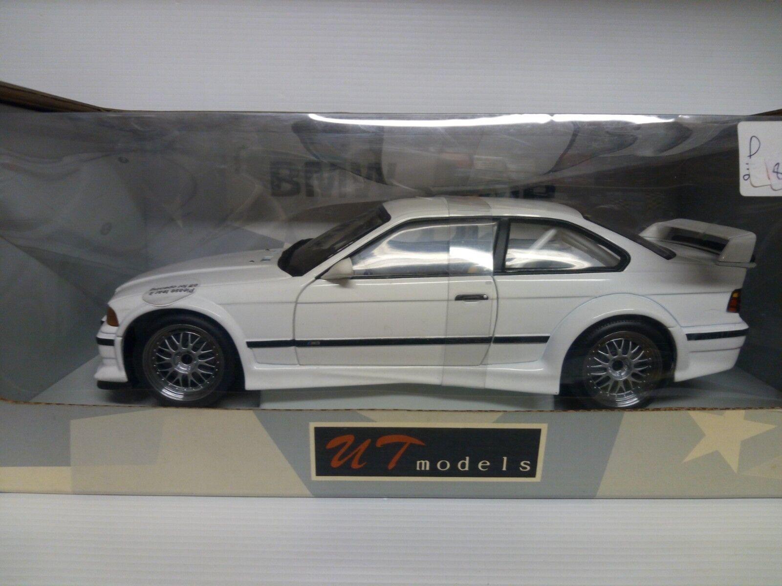 UT MODELS BMW M3 GTR 1 18  blanc blanc RARAx