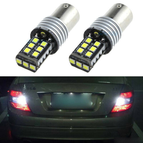 2Pcs 15SMD Error Free LED Reverse Back up Light Project For BMW E90 2005-2008