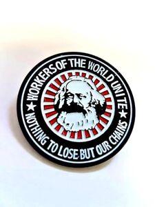 Karl-Marx-Enamel-Pin-Badge-Workers-Of-The-World-Marxist-Socialist-Communist