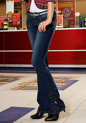 Jeans Denim Melrose Stretch With Lacing Dark Blue. New 67,99 € Sale%%%