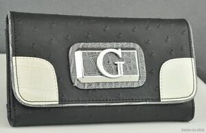Details about NWT Wallet GUESS Jeanee Slg Black Multi New Ladies