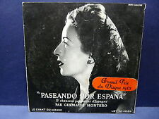 GERMAINE MONTERO Paseando por Espana 13 chansons Espagne LDY M 4006