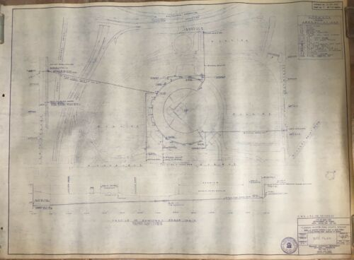 FLUSHING REPRODUCTION SITE PLAN BLUEPRINT NY METS 1964 SHEA STADIUM NY 28x37