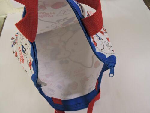 Whitle//Blue Hello Kitty Printed Ladies//Teen Medium Size Hand Bag//Tote Bag w//tag