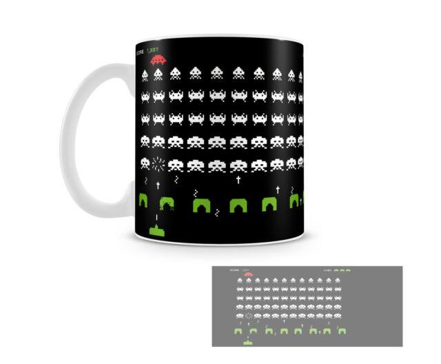 Tazza Mug SPACE INVADERS in ceramica accessori NERD vintage video game gioco