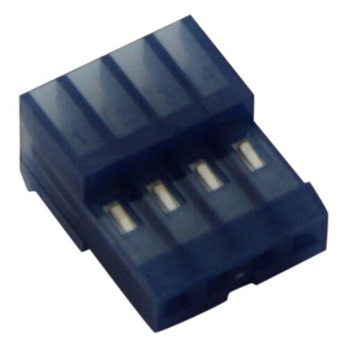 4 2,54mm IDC MTA-100 TE Conne 4X 3-640442-4 Stecker Leitung-Platte weiblich PIN