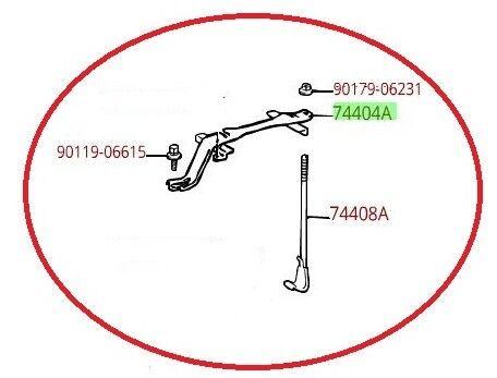 LEXUS OEM FACTORY BATTERY HOLD DOWN KIT 1995-2000 LS400