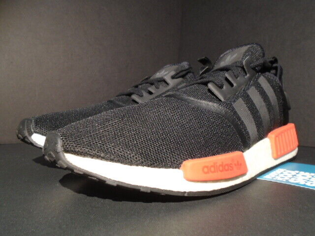 2016 ADIDAS NMD R1 BRED CORE BLACK WHITE WHITE WHITE RED XR1
