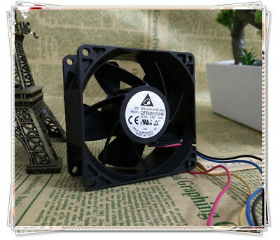 for  Delta cooling fan QFR0812UHE 8038 12V 2.50A four-wire server fan