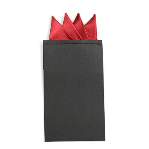 Fashion Men Solid Color Pocket Square Handkerchief Prefold Wedding Party Hanky