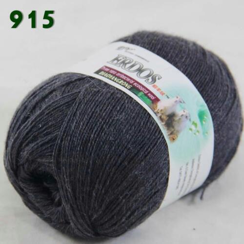 1ballx50g LACE Acrylic Wool Cashmere hand knitting shawl Yarn Charcoal gray 915