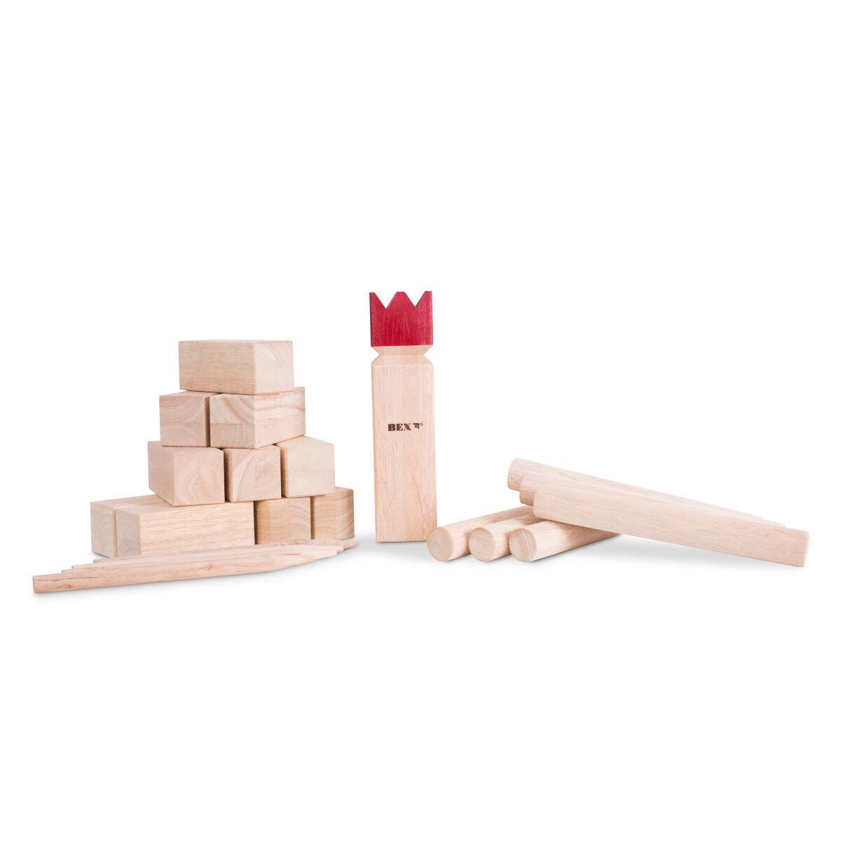 BEX Kubb Original rot King King King Gummibaum Holz Wikingerspiel Wurfspiel Gartenspiel 8a2aa8