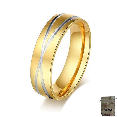 Gut Ausgebildete Original Enez Ring Trauring Ehering Edelstahlring Gr: 9 (19mm) B: 6mm R2654 + Ge