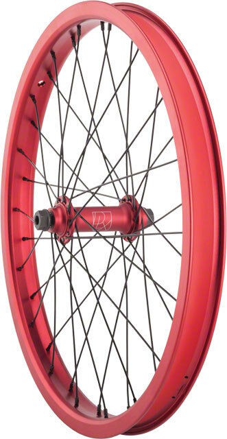 Deluxe 20  M12 Double Wall Front BMX Wheel 3 8  Sealed Female V3 Hub Red