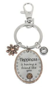 Ganz-E9-Car-Purse-or-Backpack-Accessory-Keychain-Key-Ring-Happiness-Friend