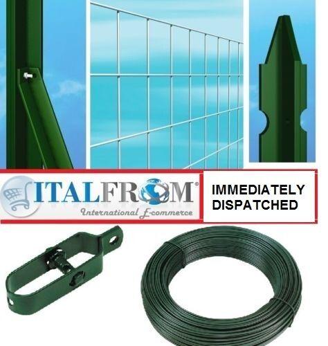 25mt Kits grillages-galvanisé soudé un grillage-T poteaux de clôture+accessoires