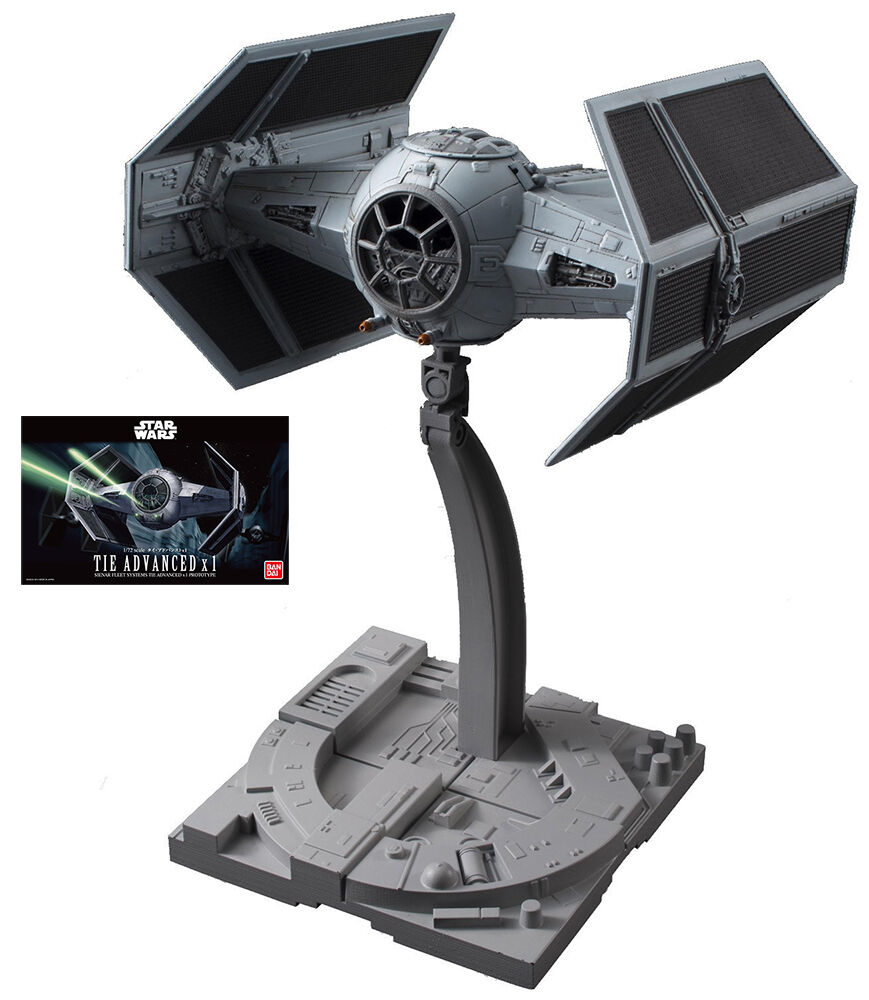Star Wars Tie Advanced X1 Prototype 1/72 Plastic Kit Bandai Guerre Stellari