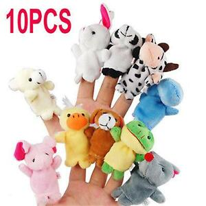 RED APPLE /& WORM Plush Hand Puppets Finger Soft Toy To Baby Children Kids