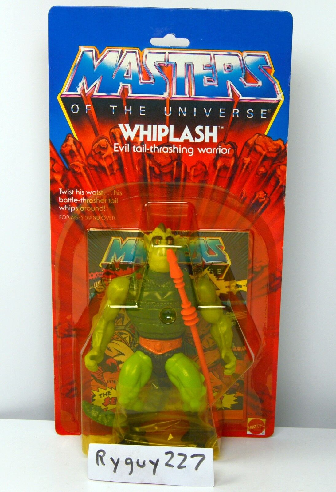 MOTU, Whiplash, Masters of the Universe, MOC, carded, figure, sealed, He Man