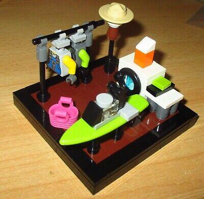 1x Tolle Badewanne in Weiss-Gold Möbel Lego City Friends